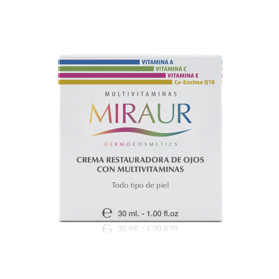 RESTORATIVE EYE CREAM WITH MULTIVITAMINS-miraur-dermocosmetics
